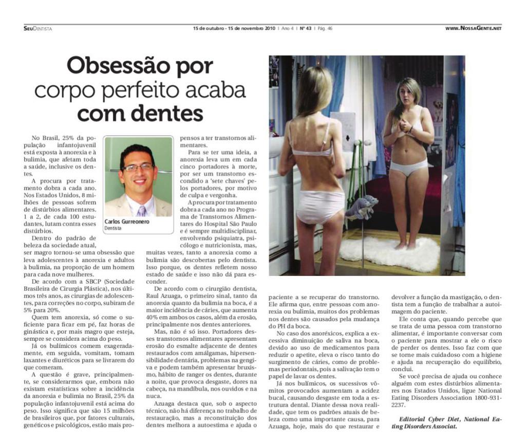 Entrevista para o jornal Nossa Gente - Ed. 43 - 15/11/2010
