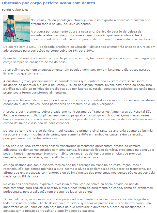Entrevista para o portal Dr. Virtual - 17/8/2010