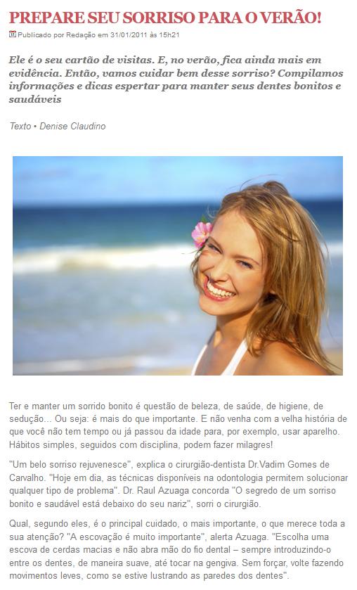 Entrevista para o portal Tríada - 31/10/2011